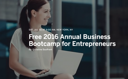 2016 Annual Business Bootcamp for Entrepreneurs