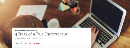 4 Traits of a True Entrepreneur